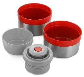 Термос металлический с колбой из нержавеющей стали универсальный Арктика 2,5 литра чашка, пробка, миска, крышка
