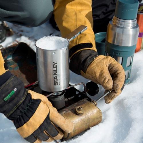 Кофейная система Stanley Mountain Vacuum Coffee System Thermos Bottle - ставим резервуар на огонь