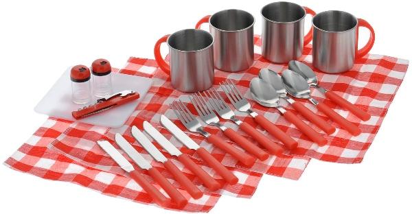 Пикниковый набор на 4 персоны Green Glade T3044 - столовые приборы и посуда