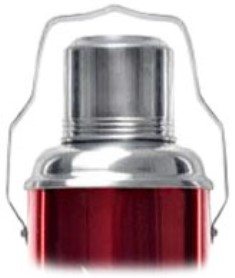 Китайский стеклянный термос Олень 2 литра со стеклянной двухслойной вакуумной колбой из закалённого стекла верхняя подвижная ручка