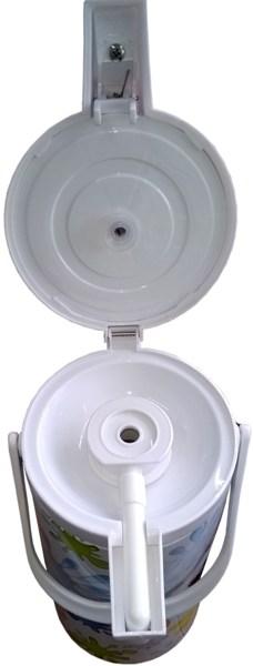 Термос стеклянный Vetta с помпой 1,9 литра - крышка с механизмом пневмонасоса