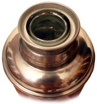 Китайский стеклянный термос Олень алюминиевый 2 литра со стеклянной колбой из стекла узкое горло