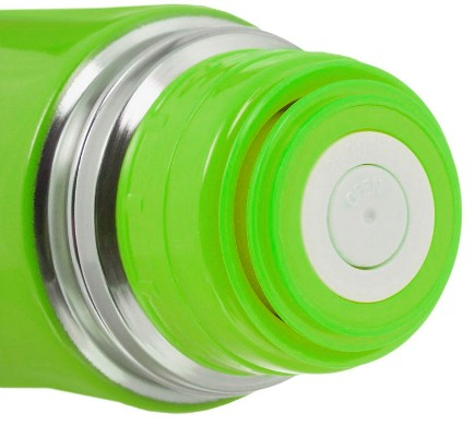 Цветной термос Biostal Биосталь из нержавеющей стали- пробка с кнопкой