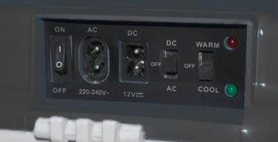 Автохолодильник AVS CC-24 NB - панель управления
