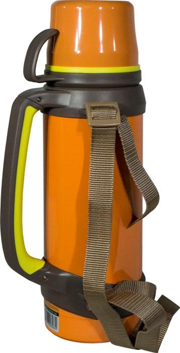 Термос из нержавеющей стали Steel Travel для напитков - боковая ручка и ремешок