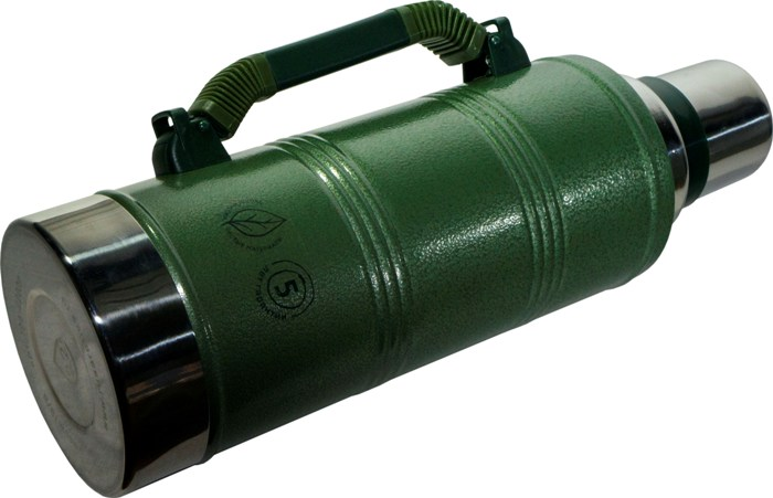 Термос для напитков Арктика серии 106-2200P - боковая выдвижная ручка