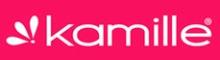 Стальная термокружка с кнопкой Kamille - логотип компании-производителя