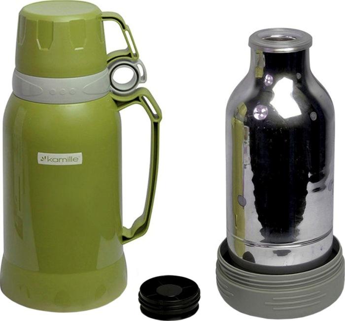 Термос Kamille 1 и 1,8 литра - стеклянная