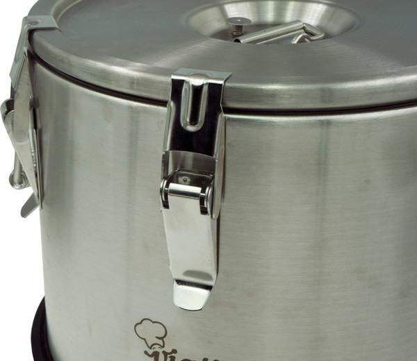 Профессиональный термос Viatto для еды - защёлки на крышке