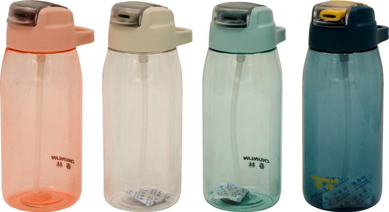 Бутылка с трубочкой-поилкой Chun Lin Two 600 и 750 мл для воды - варианты цвета