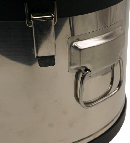Термобочка из нержавеющей стали Steel для еды и напитков - металлическая ручка