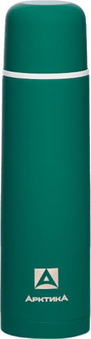 Прорезиненный термос для напитков Арктика 103 серии 1 литр зелёный