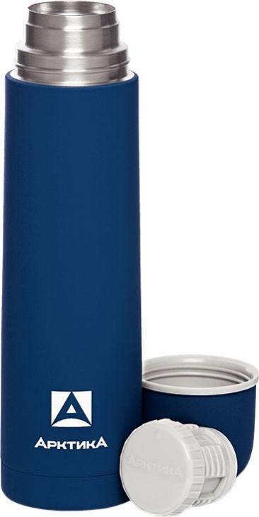 Прорезиненный термос для напитков Арктика 103 серии 1 литр синий