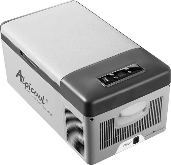 Компрессорный автомобильный холодильник Alpicool C15 - надёжная крышка
