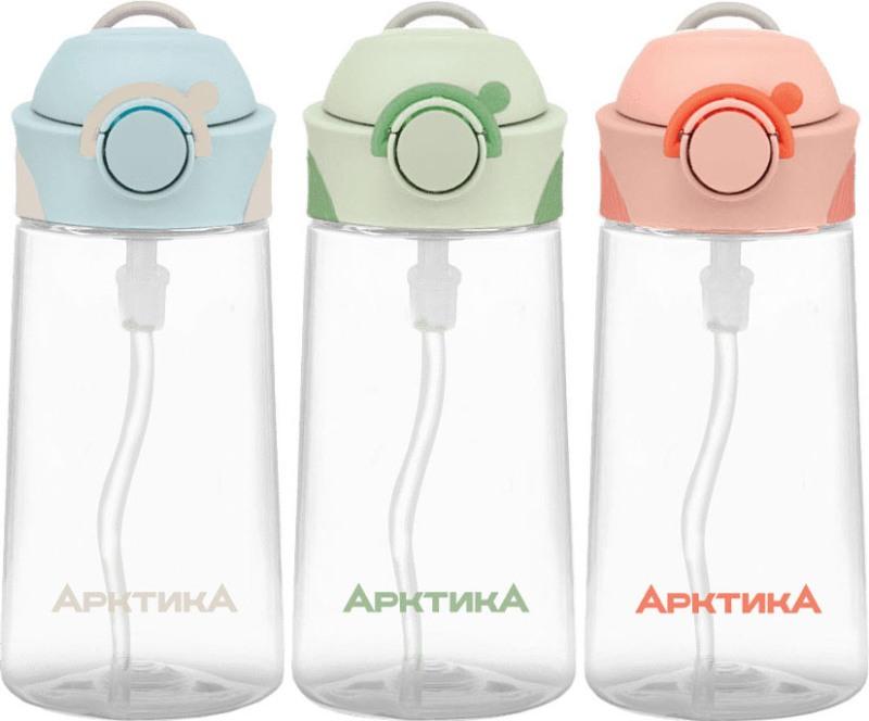 Питьевая детская бутылочка Арктика 712 серии с трубочкой 450 мл - варианты цвета
