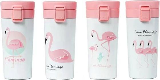 Термокружка Flamingo с поилкой 400 мл - варианты рисунка