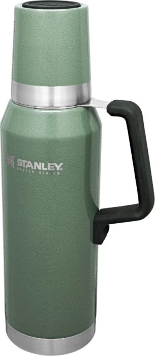 Термос Stanley Master Unbreakable Thermal Bottle 1,3 литра - боковая прорезиненная ручка