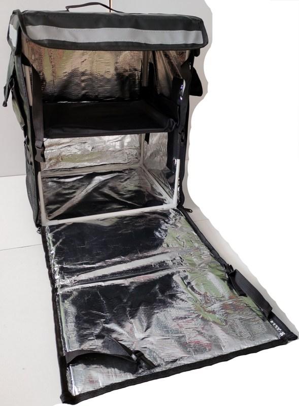 Терморюкзак для доставки продуктов и еды Delivery Backpack 45 литров - открытая задняя стенка