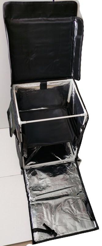 Терморюкзак для доставки продуктов и еды Delivery Backpack 45 литров - разобранный вид