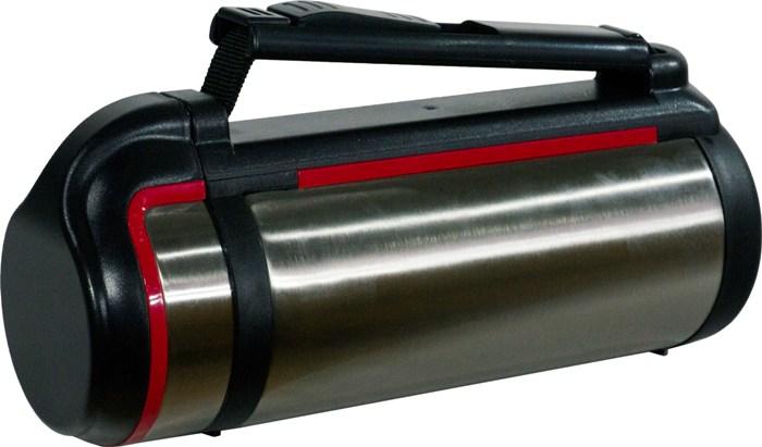 Термос для напитков Steel Red Line с кнопкой - боковая ручка