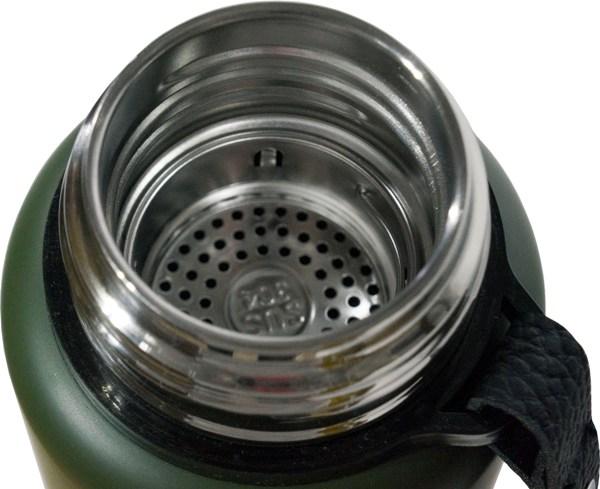 Термос-фляга с ситом для напитков Steel Meigecup 750 мл - узкое горло и сито