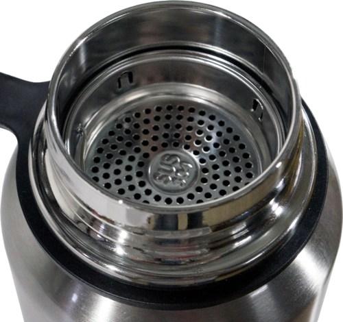 Термос-фляга с ситом для напитков Steel Jiakang 1100 мл - горловина и сито