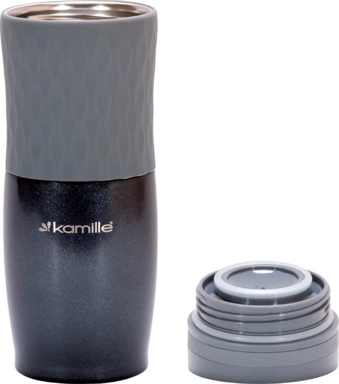 Термокружка с кнопкой Kamille dark 500 мл - разобранный вид
