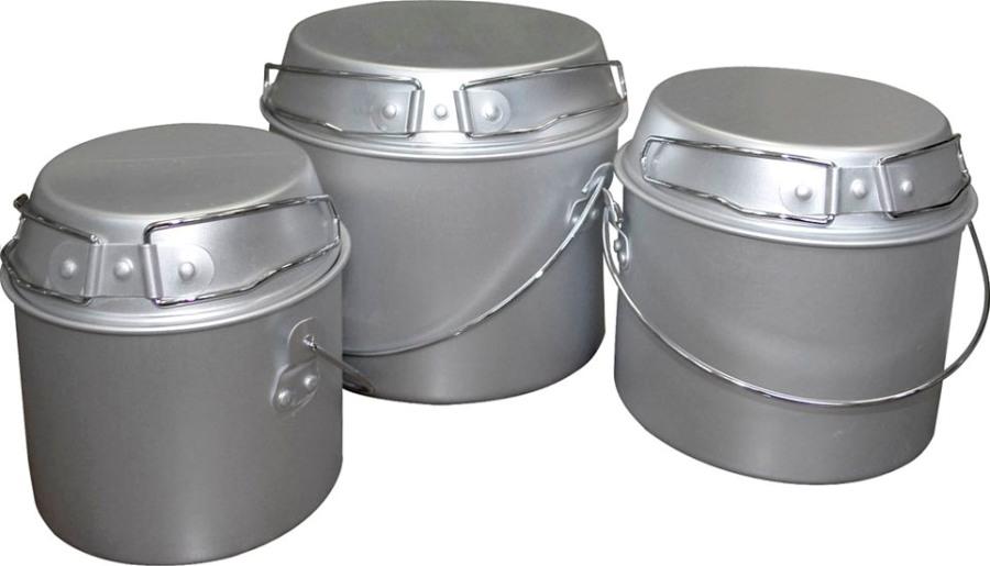 Походный набор трёх котелков ECOS Camp 1, 2 и 3 литра - удобная форма