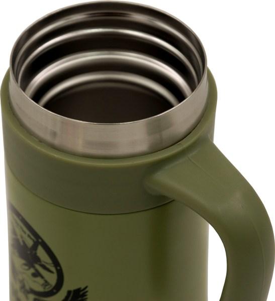 Термос-кружка для напитков Steel Office Cup 520 мл - стальная горловина