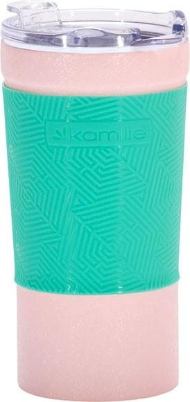 Термостакан Kamille Textured с силиконовой вставкой 380 мл - удобная форма