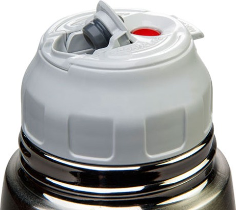 Термос для напитков Zojirushi SJ-JS с тефлоновым покрытием - пробка с кнопкой-клапаном