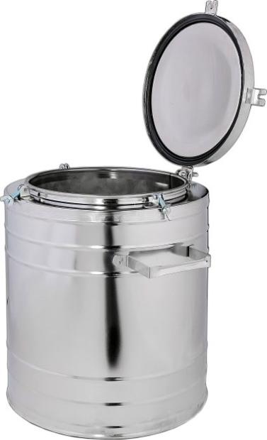 Термос полевой ТГн нержавеющий для горячего питания 24 литра - крышка