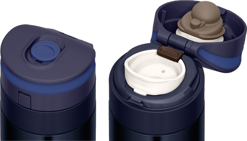 Ультралёгкая термокружка Thermos JNS 450 мл - механизм крышки с поилкой