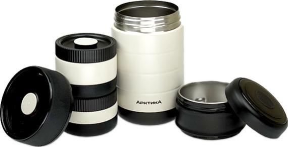Термос с тремя контейнерами Арктика 308-1300 для еды - внутренняя колба