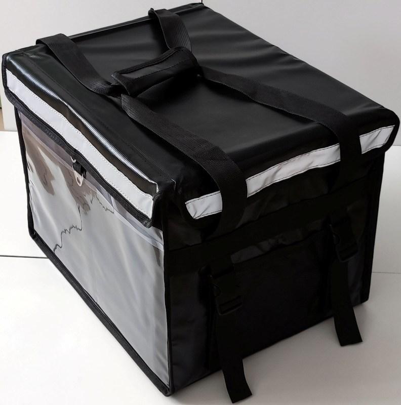 Термосумка для доставки продуктов и еды Delivery Bag 40 и 55 литров - светоотражающие элементы