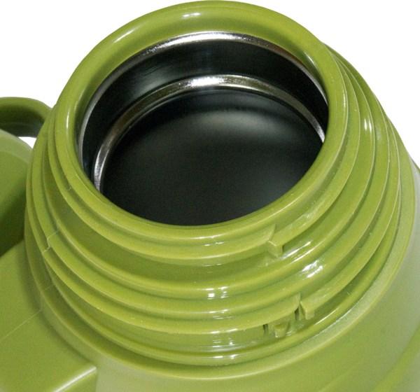 Термос для напитков Steel Military с пробкой-кнопкой - стальное горло