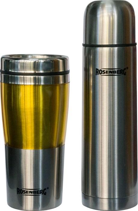 Подарочный набор Rosenberg термос 500 мл и термостакан 450 мл - приятный вид