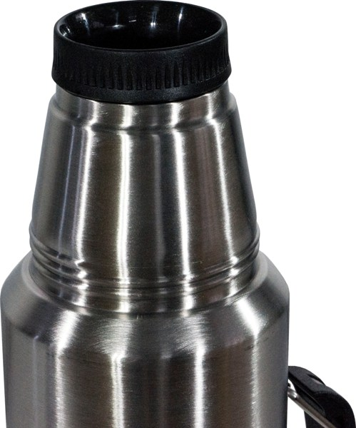 Термос для напитков Steel Vacuum Bottle 1 литр - глухая пробка