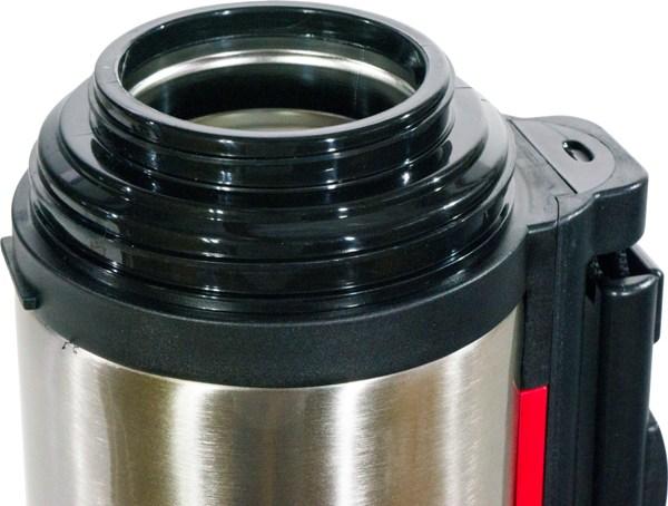 Термос для напитков Steel Red Line с кнопкой - широкое горло