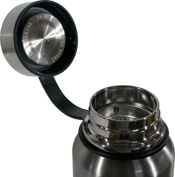 Термос-фляга с ситом для напитков Steel Jiakang 1100 мл - глухая пробка из металла