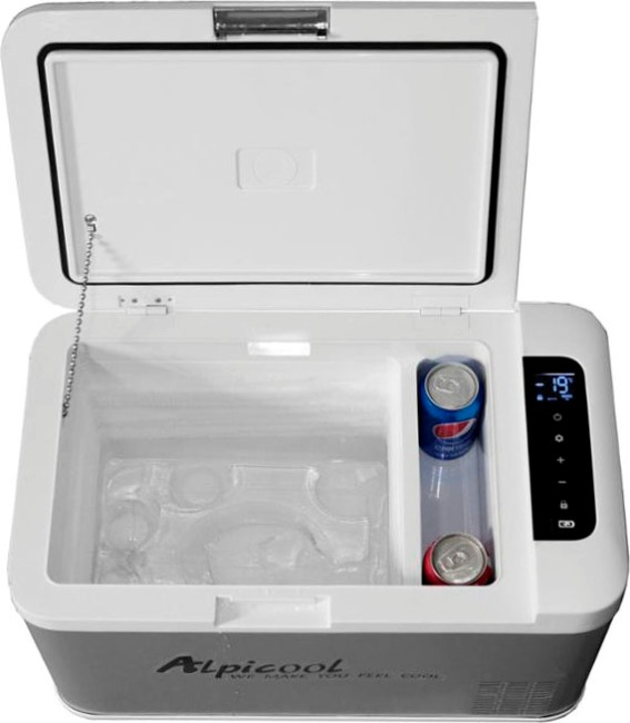 Компрессорный автомобильный холодильник Alpicool MK25 - внутренняя раздельная ёмкость