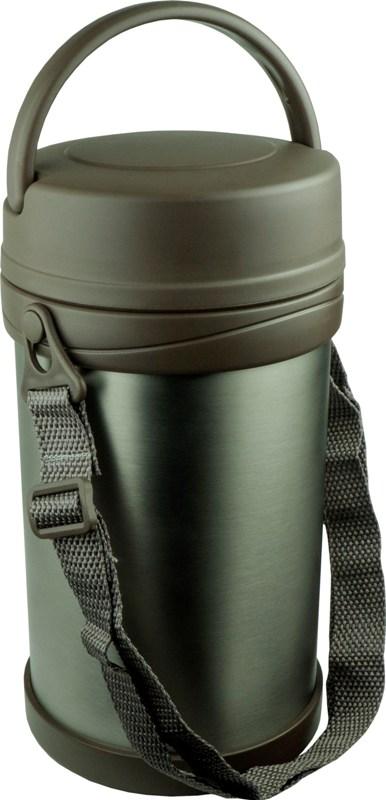 Термос Steel Food HM 2,3 литра с тремя контейнерами для еды - крышка с ручкой