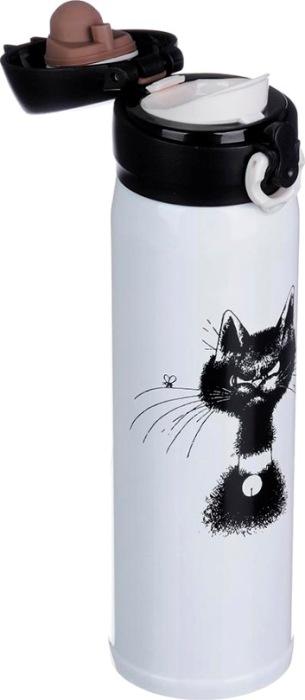 Термокружка для напитков Satoshi Cat 450 мл - крышка с поилкой