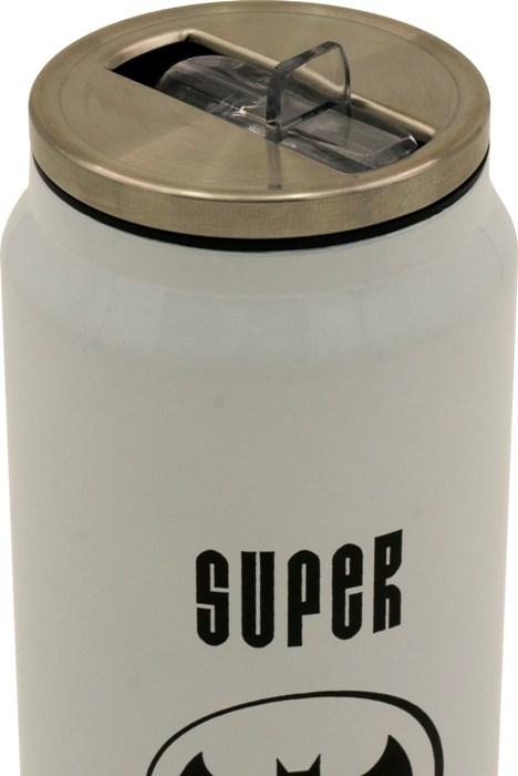 Термобанка с трубочкой Steel Super Heroes 400 мл - крышка с трубочкой
