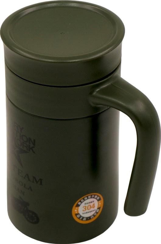 Термос-кружка для напитков Steel Office Cup 520 мл - удобная ручка