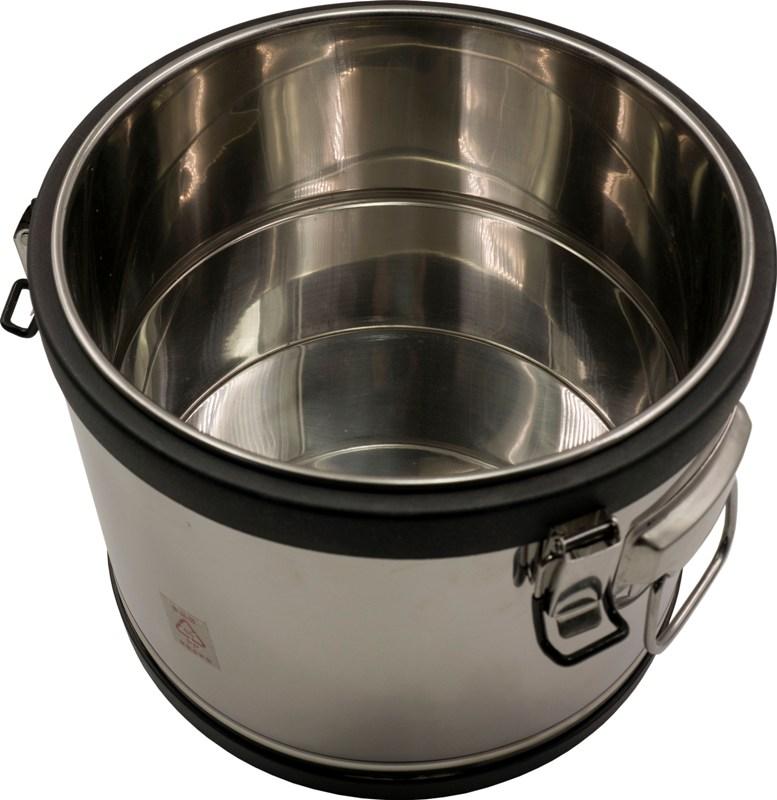 Термос профессиональный из нержавеющей стали Steel с краном для напитков - внутренняя ёмкость из нержавеющей стали