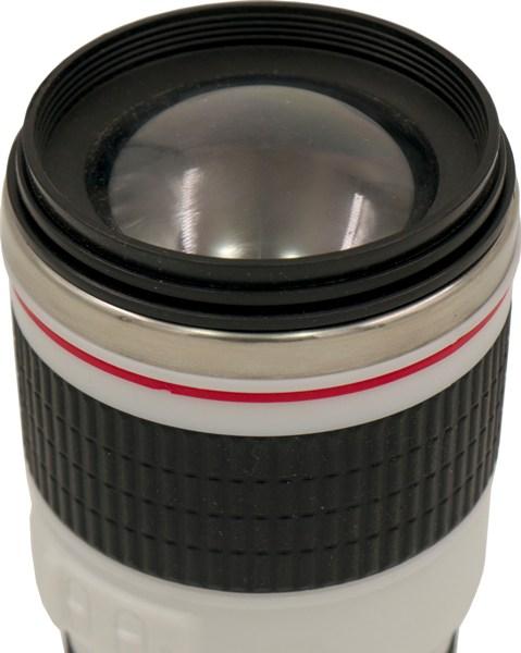 Термостакан-объектив Lens 350 мл - прозрачная крышка