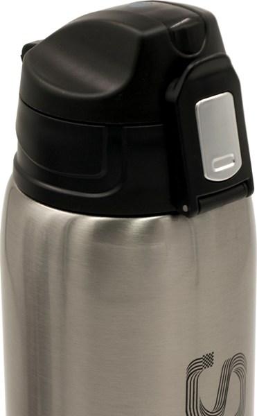 Термос из нержавеющей стали питьевой Speed 750 мл в чехле - пробка с кнопкой