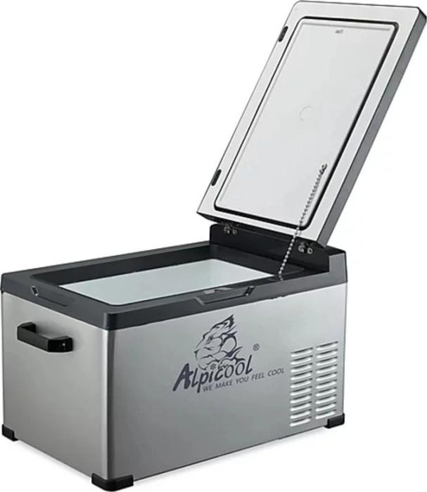 Компрессорный автомобильный холодильник Alpicool C30 - внутренняя раздельная ёмкость