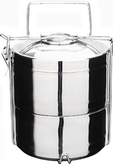 Многосекционный термо-ланчбокс из нержавеющей стали для еды 1,4 и 2,1 литра - удобная форма